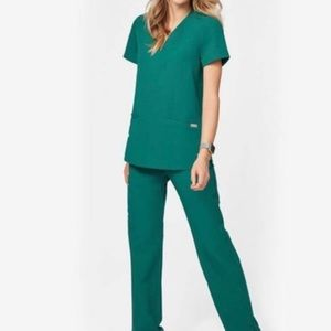 Casma hunter green FIGS limited edition scrub top